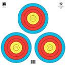 "@FT-3x40W 3-SPOT 5-RING 4-COLOR PRO TARGET FACE 17""x17"""