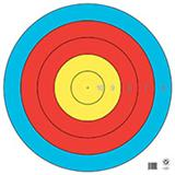 "@TA-1x122C 5 RING OF 122cm TARGET FACE 25""x25"""