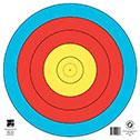 "@TA-1x80C 5 RING OF 80cm TARGET FACE 16.5""x16.5"""